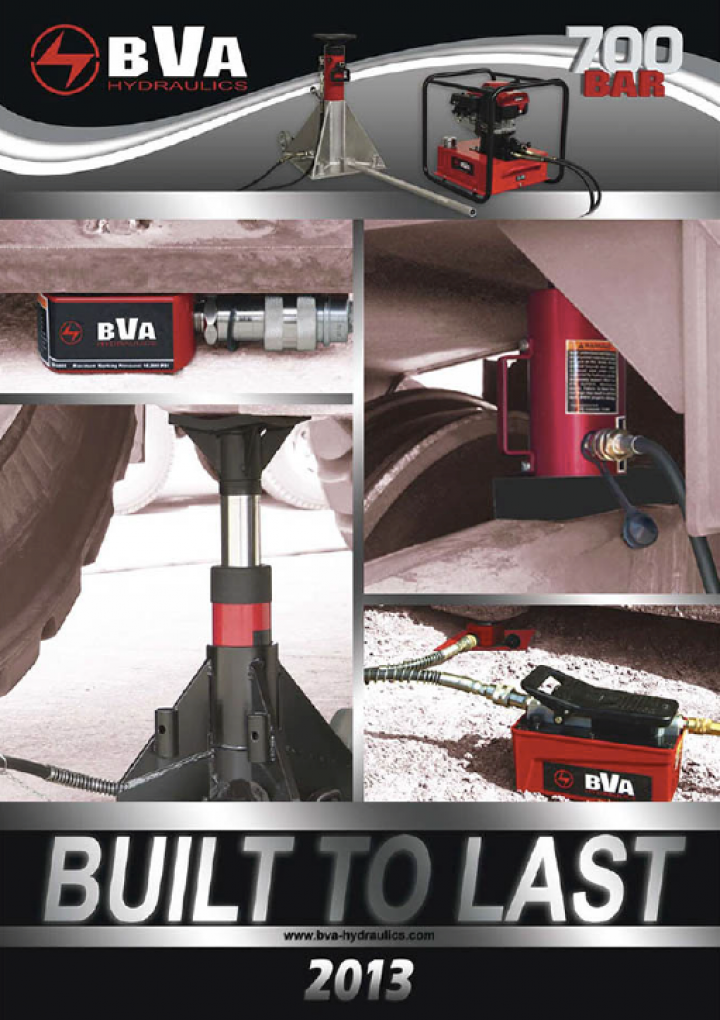 BVA hydraulic equipment catalogue